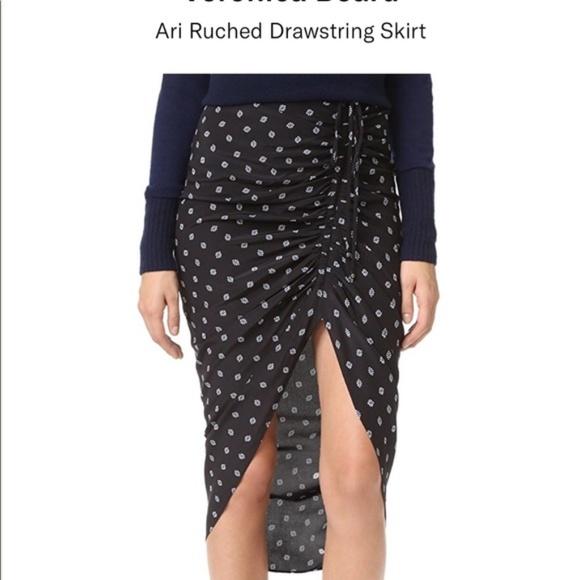 b8a623ef93e4 Veronica Beard Skirts | Ari Ruched Drawstring Skirt 8 | Poshmark
